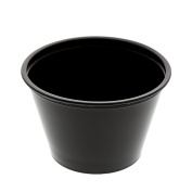 AmerCare Poly Black Portion Cup, 120ml, Case of 2500