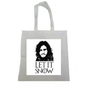 Awesome Let It Snow Fan Made Art Halloween Trick Or Treat Polyester White Tote Bag 15x16x 3.5