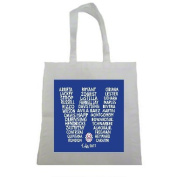 Chicago Cubs Win 2017 Win Champions Halloween Trick Or Treat Polyester White Tote Bag 15x16x 3.5