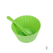 Cool Change Colour Changing Ice Cream Bowl Set, 4 Plastic Bowls and 4 Spoons, 470ml, Multi-colour