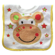Central Chic Baby Toddler Children Cute Animal Bibs Fabric & Waterproof Wipe Clean