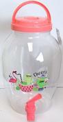 4.4L Party Screw Top Drinks Dispenser Pitcher BBQ Juice Water Beer Wine - Pink