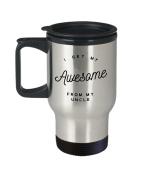 Awesome Uncle Coffee Mug - I Get My From My - Best Gift - 410ml Stainless Steel Travel Cup