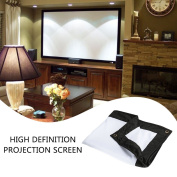 Hanbaili Outdoor Indoor Projector Screen, 250cm 16:9 Home theatre Movie projector screen HD Ready Cinema Format Projector Screen DIY Projection Screen with No Stretching Required