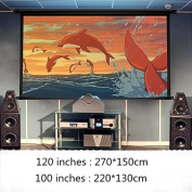 Haihuic Outdoor Movie Projector Screen, 210cm 16:9 Portable Folding Outdoor Movie Screen for Home Cinema Theatre Movies Pr