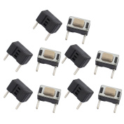 sourcingmap 10 Pcs 3mmx6mmx5mm Panel PCB Momentary Tactile Tact Push Button Switch Micro Switch 2Terminals