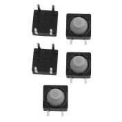 sourcingmap 5Pcs 8mmx8mm Panel PCB Momentary Tactile Tact Push Button Switch 4 Terminals