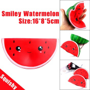 Pochers® Cute Smiley Watermelon Squishy Cream Scented Slow Rising Cute Fruit Toy Stress Balls Squeeze Toys Kids Adults Gift For Stress Relief