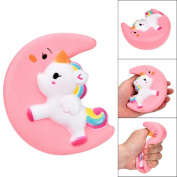 Pochers® Cute Moon Unicorn Squishy Cream Scented Slow Rising Cute Fruit Toy Stress Balls Squeeze Toys Kids Adults Gift For Stress Relief