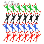 24PCS Vinyl Stretchy Sticky Rolling Wall Climber Men Toys Party Gift
