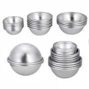 Bath Bomb Mould Cake Candle Crafting Mould Aluminium Ball Shape 16pcs 8 Set