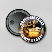 Disney Wall e (5.8cm) Personalised Pin Badge Printed in Hi-RES Photo Quality
