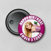 Disney Tangled Princess Rapunzel (5.8cm) Personalised Pin Badge Printed in Hi-RES Photo Quality