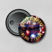 Iron Man (5.8cm) Personalised Pin Badge Printed in Hi-RES Photo Quality