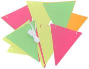Amscan 120096-90 Neon Paper Pennant Banner 4.5 Metres - Glows In Black Light