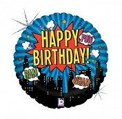 46cm Super Hero Happy Birthday Foil Party Balloon