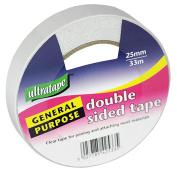 1 Roll Ultratape Double Sided Tape 25mm x 33m