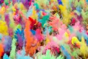 Buycrafty Gulal Holi Powder-Gulal Colour Powder - Pack of 4, 100g Each, Festival Colours Colour Powder