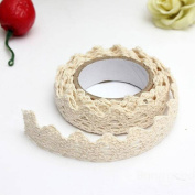 Decorative Lace Washi Tape, Woopower 1 Roll 1.8mx10mm DIY Fabric Lace Washi Tape -Self Adhesive Sticky Paper Scrapbook Sticker Party Decoration Tape