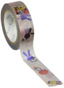 SEAL-DO Shinzi Katoh Washi Masking Tape, 15mm x 10m, Colourful Rabbit (ks-mt-10004) by SEAL-DO