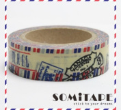 Travelling Airmail Postmarks Washi Tape, Craft Decorative Tape