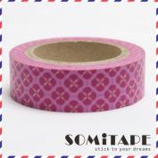 Pink Flower Pattern Washi Tape, Craft Decorative Tape