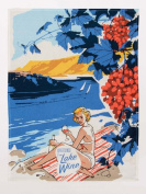 Blue Q Greetings From Lake Wine Novelty Dish Towel