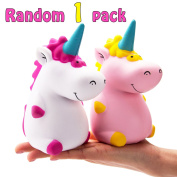 R • HORSE Kawaii Jumbo Unicorn Squishy Slow Rising Sweet Scented Vent Charms Kid Toy Hand Toy Stress Relief Toy, decorative props Doll Gift Fun Large