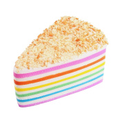 CYCTECH Stress Relief Toys Exquisite Rainbow Cake Squeezable Slow Rising Charm Kid Toy Gift