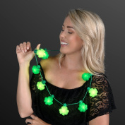 Blinky Big Shamrock Light Up LED St. Patrick's Day Necklace