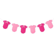 BESTOYARD Bowknot T-Shirt Shaped Banner Garland Flags Baby Room Nursery Decoration For Baby Shower Birthday Party Favour