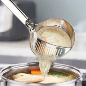 HS Stainless Steel Multi-purpose Straining Ladle Spoon,Colander Strainer Ladle Spoon