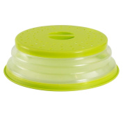 Collapsible Microwave Cover, Sacow Plastic Microwave Round Bottom Plate Cover Colander Strainer for Fruit Vegetables