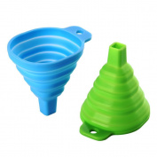 Silicone Foldable Funnel, Sacow Silicone Collapsible Funnel Cup for Liquid Transfer 2Pc