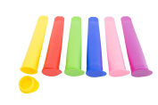 Kitchen Winners Set of 6 Multi-Coloured Reuseble Ice Pop mould with Lids