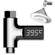 Robolife LED Digital Water Shower Thermometer Faucet Self-Generating Water Temperature Monitor Battery Free