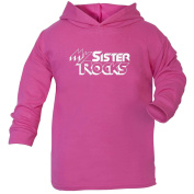123t Slogans Baby My Sister Rocks Cotton Hoodie