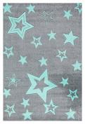 Kids rug Happy Rugs STARLIGHT grey/mint 130x190cm