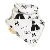 Funky Giraffe White & Black Tribe Bandana Bib