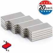 20x10x2mm Bar Magnets, Office Rectangular Refrigerator Magnets by MIKEDE
