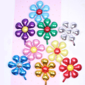 9Pcs Birthday Balloons, Outgeek Balloon Decorations Colourful Beautiful Flower Decorative Balloons for Birthday Wedding Party