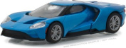 NEW 1:64 GREENLIGHT HOBBY EXCLUSIVE - Blue 2017 Ford GT Diecast Model Car By Greenlight