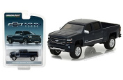 NEW 1:64 GREENLIGHT HOBBY EXCLUSIVE - Metallic Blue 2018 Chevy Silverado 100 years Centennial Pickup Diecast Model Car By Greenlight