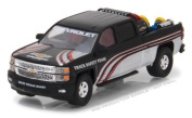 NEW 1:64 GREENLIGHT HOBBY EXCLUSIVE - Black 2015 Chevrolet Silverado Pickup Truck with Safety Equipment Diecast Model Car By Greenlight