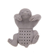 Xiaolanwelc@ Cute Sloth Tea Infuser Silicone Coffee Tea Strainer Herbal Spice Teapot Filter Drinking Kitchen Accessories