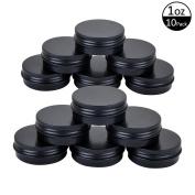 TMO 30ml 30g Aluminium Metal Tin Round Tin Cans Empty Sample Containers Screw Top Aluminium Tin Jars Bulk Storage Jars Container