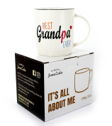 Janazala Best Grandpa Ever Mug, Grandpa Coffee Mug, Anniversary And Birthday Gifts Idea For Granddad, Fathers Day Present, Grandparents Christmas Gift, Ceramic, 380ml Cup