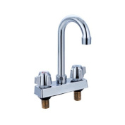 Commercial Deck-Mount Hand Sink Replacement Faucet Stainless Steel NSF; Fits Any 10cm Centre
