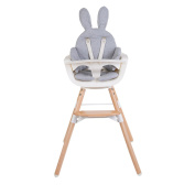 Childwood Seat Cushion Support Pillow Baby High Chair Bunny Rabbit Jersey Grey
