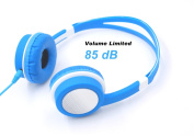 Futureway Wired 85dB Volume Limiting Kids Headphones - Detachable 3.5 mm Audio Cable - Adjustable Stereo Children Headphone for MP3 PC Tablet Smartphones iPod iPhone iPad